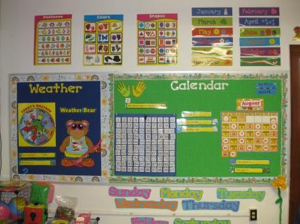 Kindergarten Calendar area