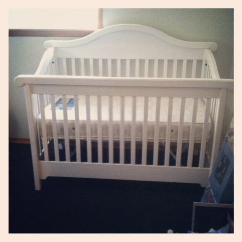 Baby H's crib