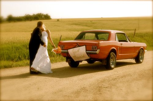 Wedding Day with car