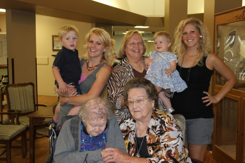 Grandma T's 105th birthday
